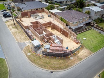 PARTIALLY CONSTRUCTED HOME