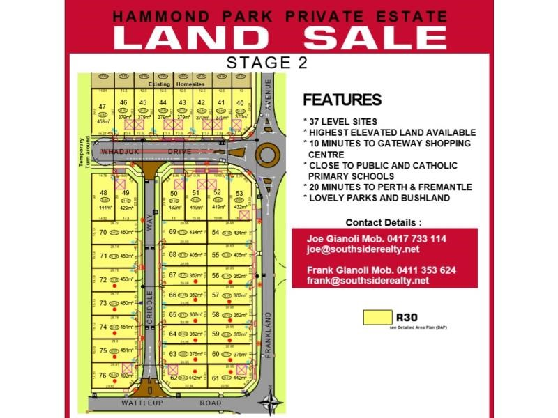 Property for sale in Hammond Park : Southside Realty